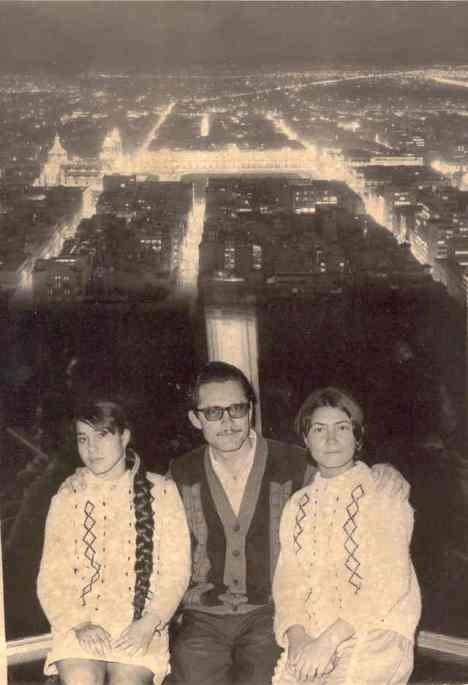 Desde el mirador de la Torre Latinoamericana, ciudad de México