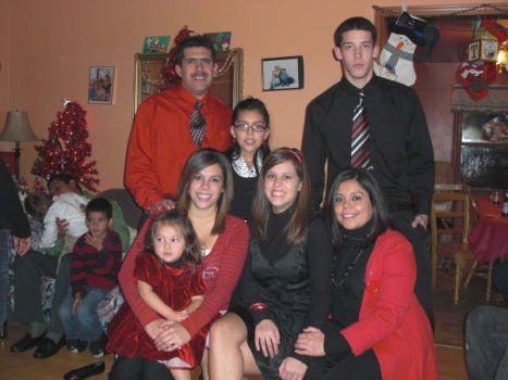 Evangelina Esqueda Martinez, con la familia en Chicago