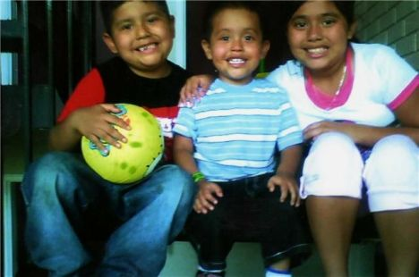 Hijos de Susana, Susan, 10; JR, 6; y Jordy, de 3 años