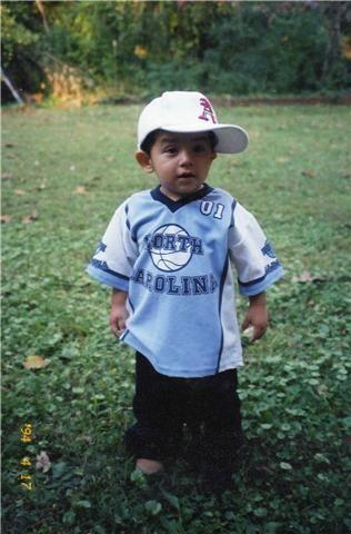JR, a los dos años de edad