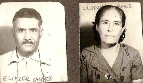 Eliazer Campos y Crispina Báez