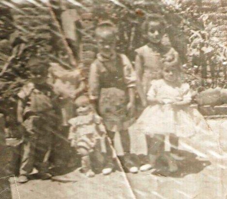 Rafa, Chela, Lorenia, Guadalupe y Maruca Campos