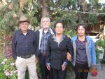 Amado Báez, Silviano Martínez, Petrita Martínez, Irma Báez Martínez. Foto de Emmanuel Martínez Campos