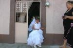 La niña Rubí Aguiñiga Herrera, el día de su primera comunión. A un lado su madrina Silvina Mora Martínez