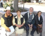 Salvador Salgado, Lucrecia Campos, Silviano Martínez, Josefa Campòs. Foto de Emmanuel Martínez