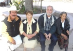 Salvador Salgado, Lucrecia Campos, Silviano Martínez y Josefa Campos