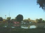 Ziquítaro, calles y paisajes, 51. Mañanita del día 12, presita y luego barrio de El llano. Al fondo Buenavista