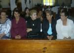Distinguidas asistentes a las celebraciones durante la fiesta patronal en Ziquítaro