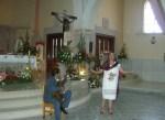 Recital poético de la maestra Flavia Narváez Martínez, antes de la misa central