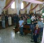 Feligreses durante la celebración eucarística