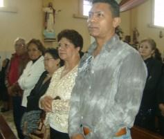 Amado Báez, Petrita Martínez, Rosa Martínez, Ma. Luz Martínez y Mario Quintana Martínez, durante la celebración