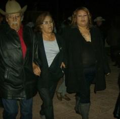 Don Amado, doña Petrita y Silvina (Nina)