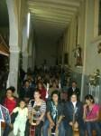 Otra vista del coro, el día once, a la espera de la misa nocturna