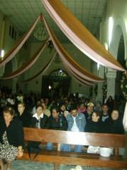 Por comenzar la misa de la última peregrinación de barrios. Este año le tocó a la comunidadde El Mirador