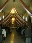 Al terminar la misa de la víspera, en Ziquítaro, de la fiesta guadalupana