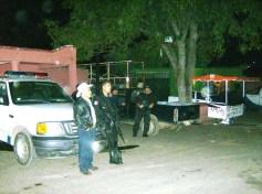 Orden, en la convivencia. El jefe de Tenencia J. Trinidad Roa y policías municipales